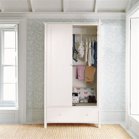 Childrens Wardrobes Uk - islander wardrobe all white bedroom