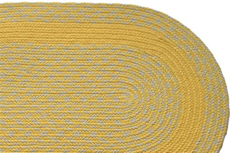 yellow braided rug yellow yellow band braided rug