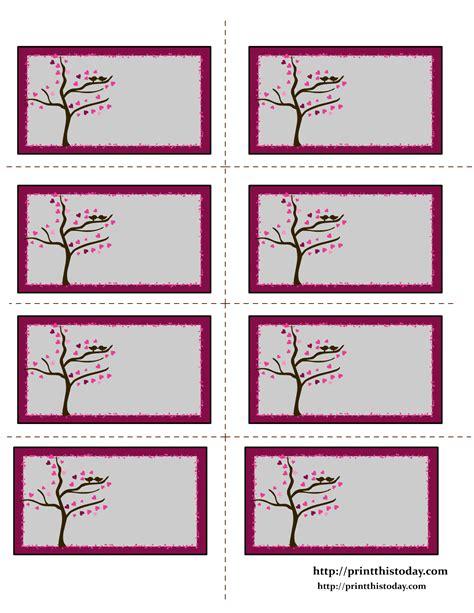 printable heart labels free valentine labels