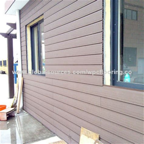 durable non fading plastic wpc outdoor wall panels