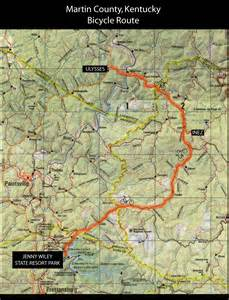 martin county kentucky bicycle routes