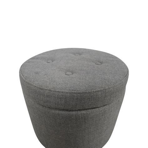target tufted ottoman 42 target target grey tufted storage ottoman storage