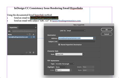 creating hyperlinks indesign a fix for indesign s email hyperlink problem