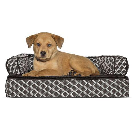 sofa style orthopedic pet bed mattress furhaven plush decor orthopedic sofa style baxterboo