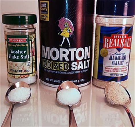 the difference between kosher salt sea salt table salt