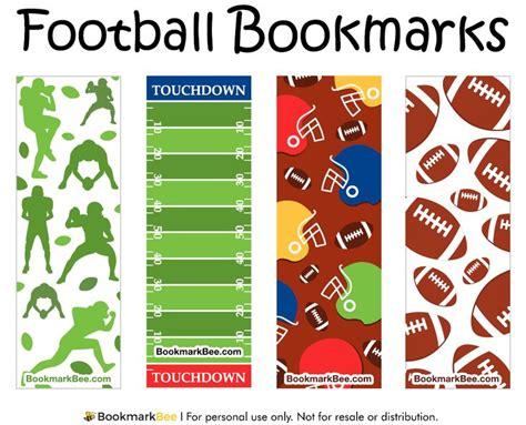 printable bookmarks paper http bookmarkbee com bookmark football football