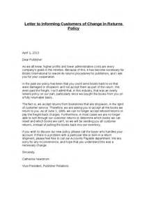 Credit Policy Letter To Customer Letter To Informing Customers Of Change In Returns Policy Hashdoc