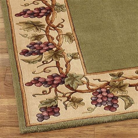grape kitchen rugs grapes napa border rug runner vintage kitchen and decorating pint