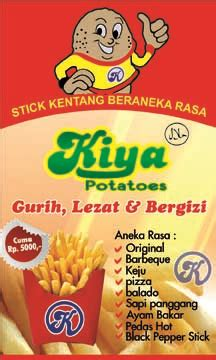 konsep membuat iklan makanan ringan franchise stick kentang murah usaha kentang goreng