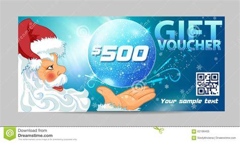 gift voucher santa claus stock illustration image