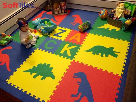 Playroom Mat by Dinosaur Play Mat Personalized Play Mat Softtiles