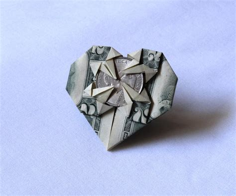Money Origami With Quarter - image gallery money origami