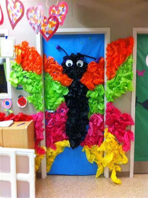 weird animals vbs door decor tissue paper butterfly vbs
