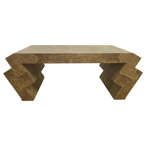 Zig Zag Table L Vintage Goatskin Coffee Table With Zig Zag Legs For Sale At 1stdibs