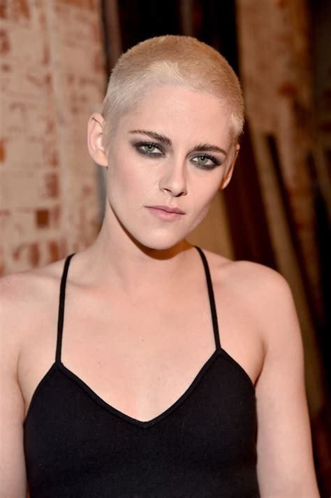 kristen stewart buzzcut short hairstyles lookbook