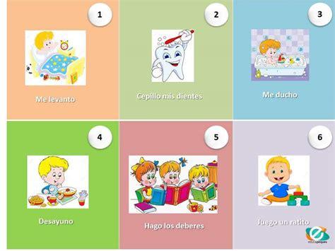 imagenes rutinas diarias en ingles tabla de rutinas diarias para nuestros ni 241 os y ni 241 as