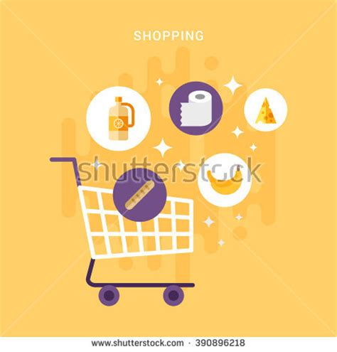 i love shopping icon and concept stock vector supermarket online website concept food assortment stock