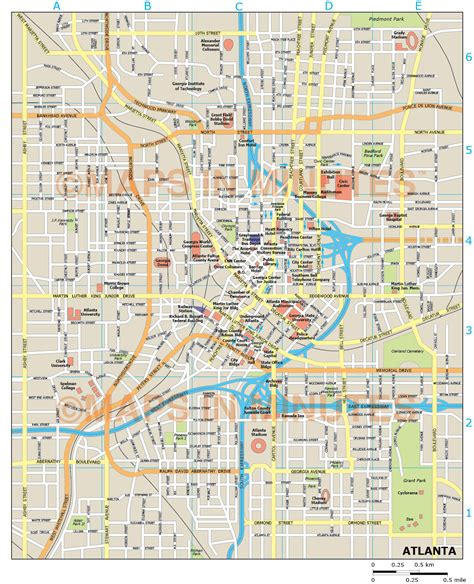 atlanta map in us atlanta city map