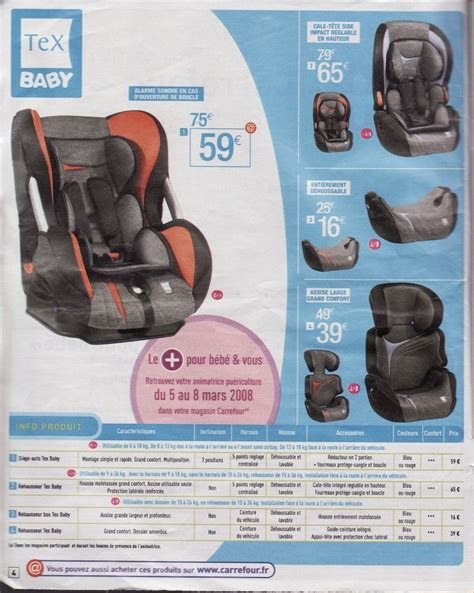 notice siege auto tex carrefour tex baby sort des sieges isofix