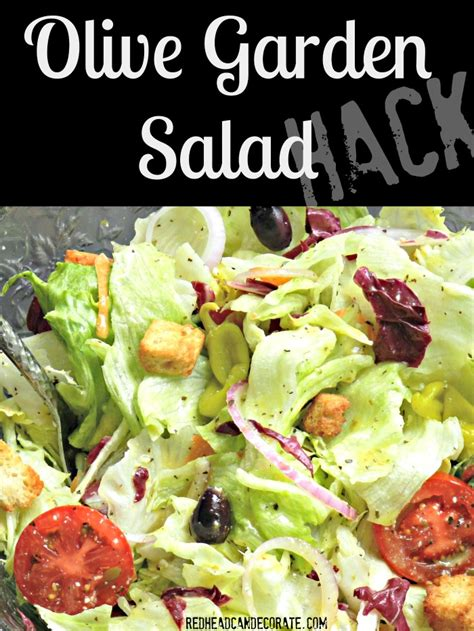 olive garden salad hack can decorate