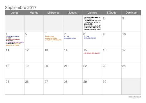 calendario de las pruebas extraordinarias de septiembre