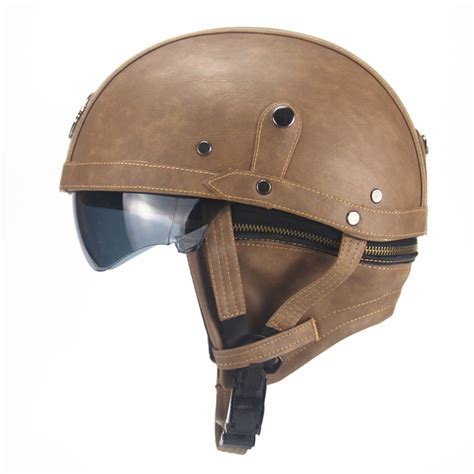 leather motorcycle helmet aliexpress com buy motorcycle motorbike rider half open