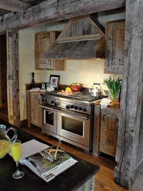 barn wood kitchen cabinets country kitchen photos hgtv