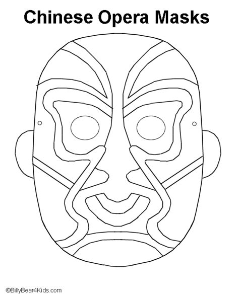 new year mask to color new year crafts for preschool monkey coloring