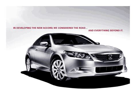 manual repair free 2008 honda accord engine control 2008 honda accord brochure pdf