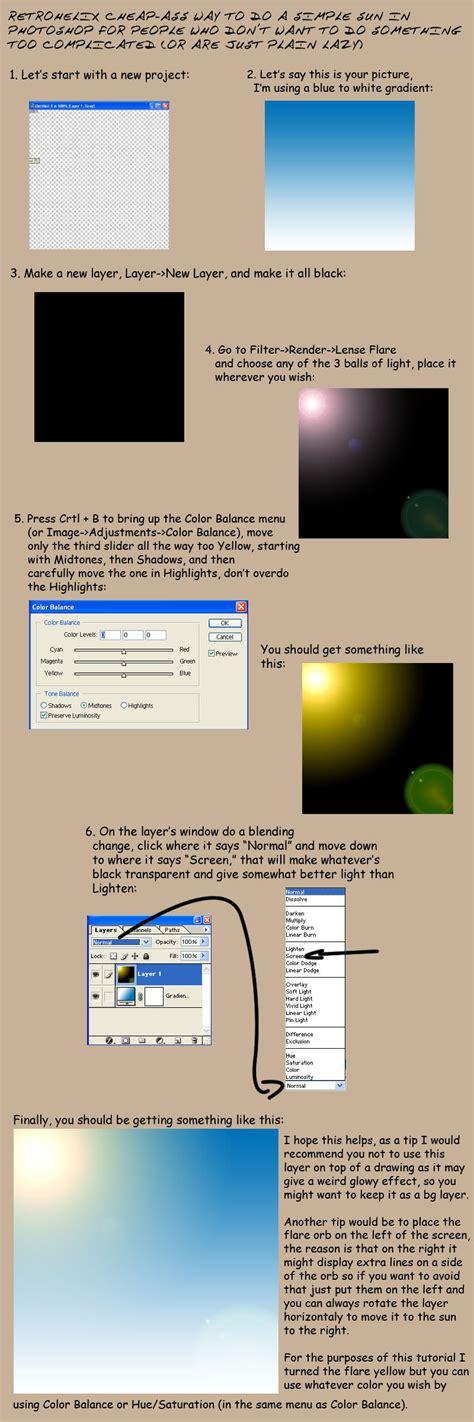 photoshop tutorial quick photoshop quick sun tutorial by retrohelix on deviantart