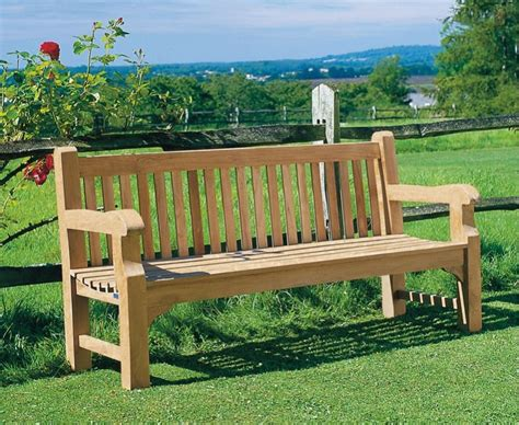 garden park bench balmoral traditional teak park bench classic chunky