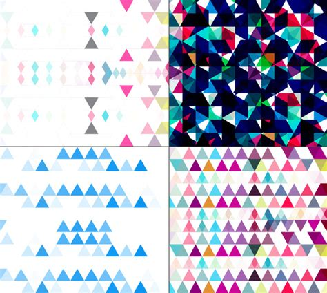create mosaic pattern illustrator seamless geometric colorful pattern set mosaic creative