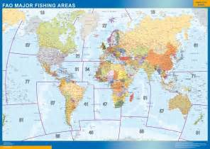 fishing map our fao fishing areas wall maps mapmakers offers poster
