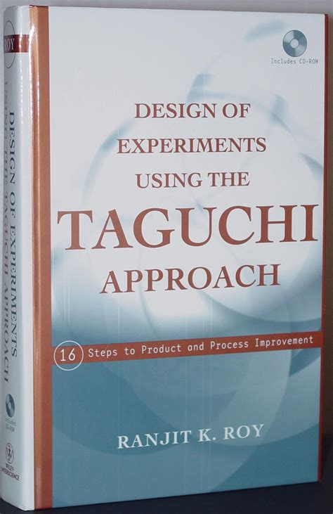 design of experiment book textbooks on taguchi design of experiments