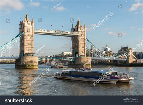 thames clipper tower bridge tower bridge symbol london city skyline stock photo