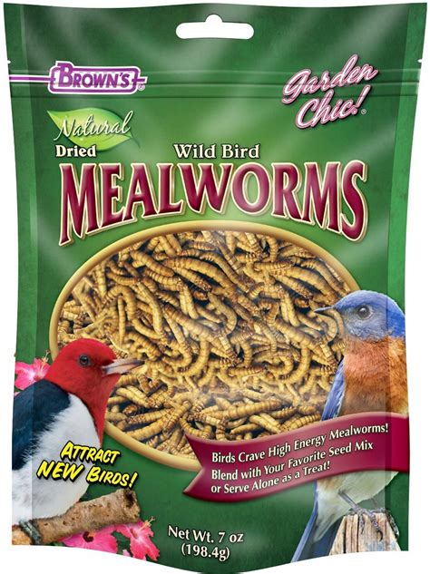 brown s garden chic dried mealworms for wild birds 7 oz