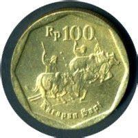 100 Rupiah Logam Tipis Th 1978 uang kuno uang logam indonesia