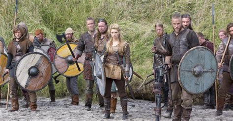 Vikings ready for battle against the english in vikings quot trial quot c