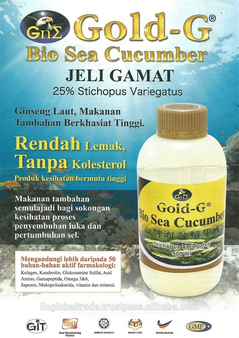 Gold G Bio Sea Cucumber 500ml0 gold g bio sea cucumber buy sea cucumber jelly sea