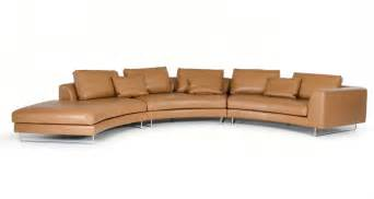 Camel Color Leather Sofa Divani Casa Tulip Modern Camel Leather Sectional Sofa