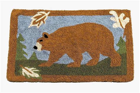 northwoods rugs northwoods bath rug bathroom rustic lodge landscape satuday bathmats rugs