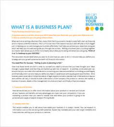 How To Write A Small Business Plan Template by Small Business Plan Template 12 Free Word Excel Pdf