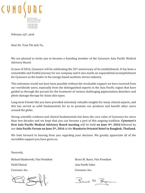 invitation letter to doctors about doctor thi anh tu md phd