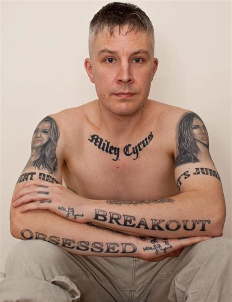 miley cyrus tattoo guy covered with 29 miley cyrus tattoos is sad because