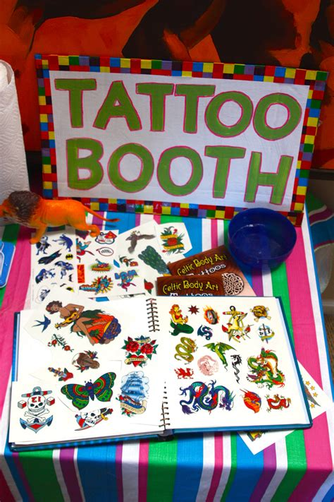 tattoo games for kids booth something the be in charge of at the