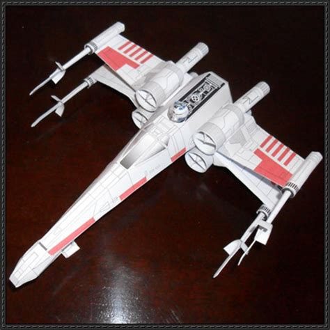 X Wing Papercraft - wars t 65 x wing starfighter ver 7 free papercraft