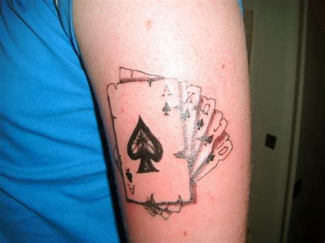 playing cards tattoo 30 coolest play cards designs around the web