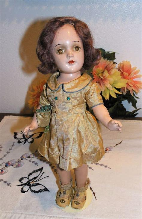 composition doll mohair antique vintage r b arranbee 13 quot composition doll