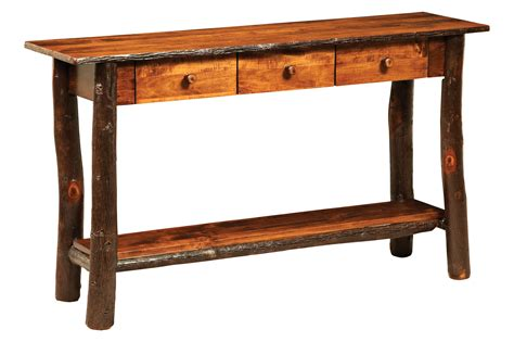 sofa table with drawers hickory lakeside sofa table with 3 drawers