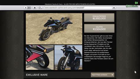 Gta V Motorrad Kaufen by Gta 5 Stunts Mit Raketen Motorrad